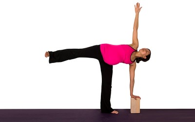 Yoga for Pregnancy | Half moon pose at the wall